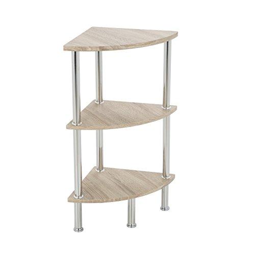 Modernes Eckregal für das Badezimmer, holz, beige, 3 Shelf -