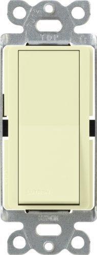 15 Amp Single Pole (Lutron CA-1PS-AL Diva 15-Amp Single Pole Switch, Almond by Lutron)
