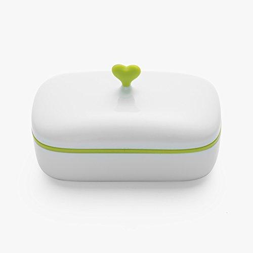 T & B Cute Soap Box herz Butter Dish Set