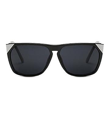 MYLL Europäische Und Amerikanische Mode Mit Großem Rahmen Damen Sonnenbrille Feine Feste Metallspiegel Beine Gläser