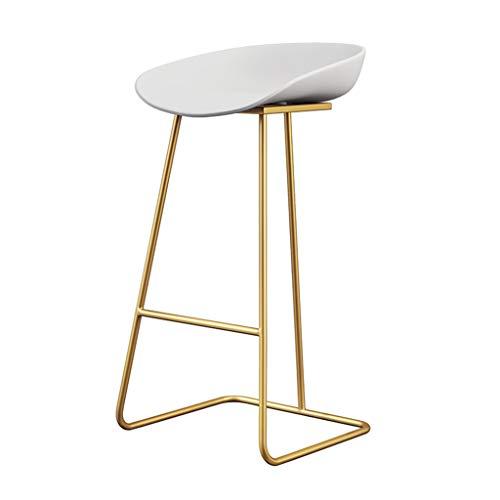 Zeitgenössische Barhocker Stühle - Moderne Mode Eisen Kunst Möbel - Weiß Umweltfreundliche Rustikale Sitz - Metall Gold/Weiß/Schwarz Beine - Sitzhöhe: 65 cm, 70 cm, 75 cm -