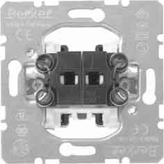 Hager–Meccanismo doppio pulsante con enclavamiento basculante 10A/250V