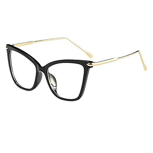 Dorical Retro Brille für Unisex/Damen Herren Transparent Sonnenbrille Großer Rahmen Vintage Brille Metal Frame Brille Dekobrillen Valentinstag Brille mit Federscharnier für Frauen Männer Sale