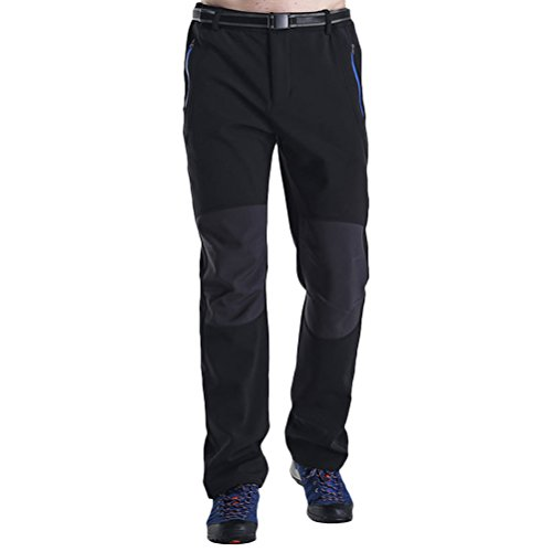 Zhhlinyuan Mens Outdoor Double Layer Thickening Velvet Hose Winddicht Water Resistant Hiking Climbing Pants Quick Dry (Velvet Double-layer)
