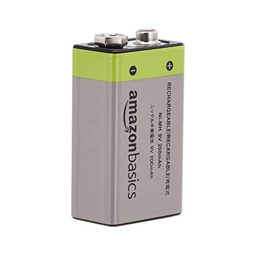 AmazonBasics - Pilas recargables de 9 V / NiMH / 4 unidades / 200 mAh