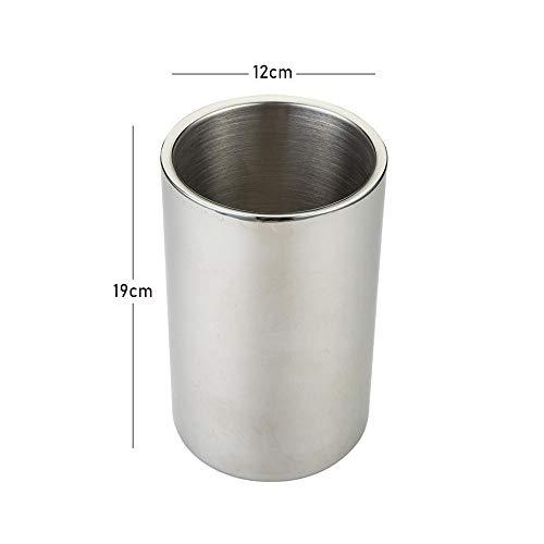 Edelstahl-Eiswürfelschale|Doppel-Eiskübel/als Eisbeutel|Eisbehälter zur Eisaufbewahrung|Stangenkühler/Eiskübel -