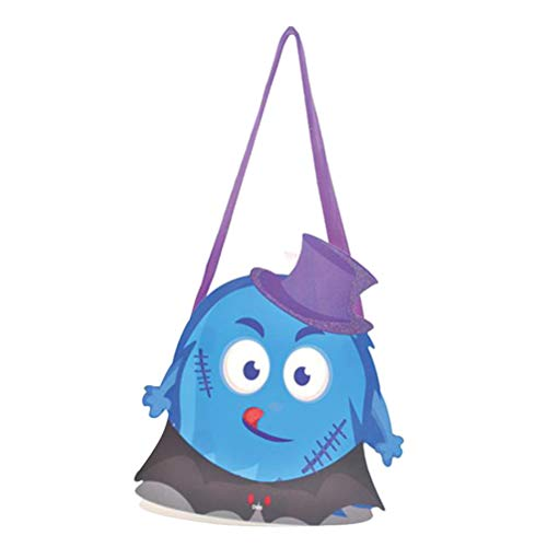 Amosfun Halloween Candy Bag Papiertüte Süßes oder Saures-Tüten mit Schleife Halloween Party Favors (zufällige Farbe) (Devil)
