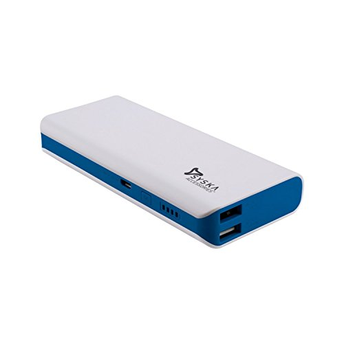 Syska x100 10000 LI ION power bank WHITE BLUE  available at amazon for Rs.1499