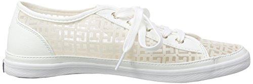 Tommy Hilfiger - K1285esha 13c, Scarpe da ginnastica Donna Bianco (Weiß (SNOW WHITE 118))