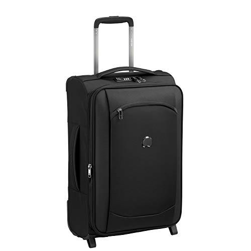 DELSEY PARIS - MONTMARTRE AIR 2.0 - Valise cabine souple avec zip sécurisé et serrure TSA intégrée - 55cm, 33.6L, Noir