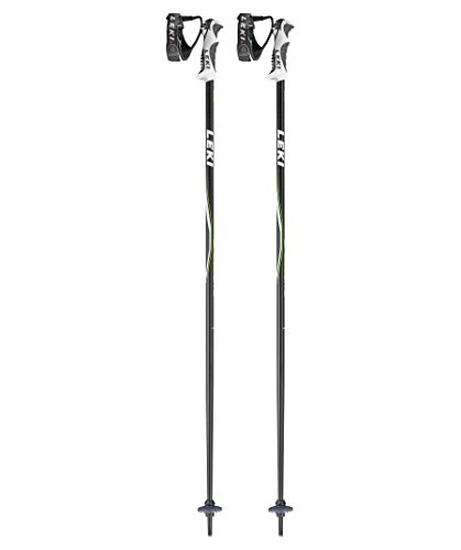 LEKI Kinder Skistock Speed Lite S, Base Color Anthracite/Design: Green-Black-White, 100 cm, 632-6540