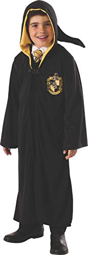 Rubies offizielles Hufflepuff-Harry-Potter-Kostüm für Jungen oder Mädchen, ausgefallenes Kinderkostüm, - Black Robe Kostüm Großbritannien