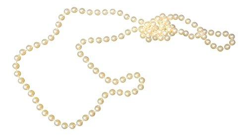 New Vintage Stil der 1920lang Charleston Flapper Halskette Faux Perle Perlen, Elfenbein - Pearl, 90 (Halskette Der Perle Flapper)