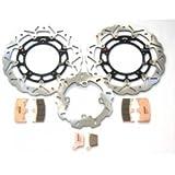 BRAKING Wave Bremsscheiben Set / Komplettset für Honda CBR 1000 RR Fireblade, SC57, Bj. 2004