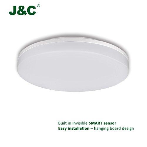 Jnc Plafonnier Led 36w Lampe De Plafond Rond Ip44 Etanche 2900lm