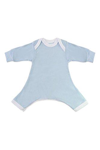 Hip-Pose Baby-Strampler / Strampelanzug mit langen Ärmeln für Spreizhose und Gipshosen für Babys 3 - 6 Monate, blau