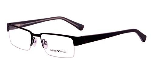 Emporio Armani Rectangular Sunglasses (Black) (EA505BL51) image
