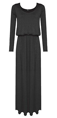 N&L Private LTD - Robe - Robe - Manches Longues - Femme Noir