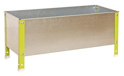 SimonRack G07100220212401 - Huerto urbano, 150 l, 410 x 1200 x 400 mm, color verde/galvanizado