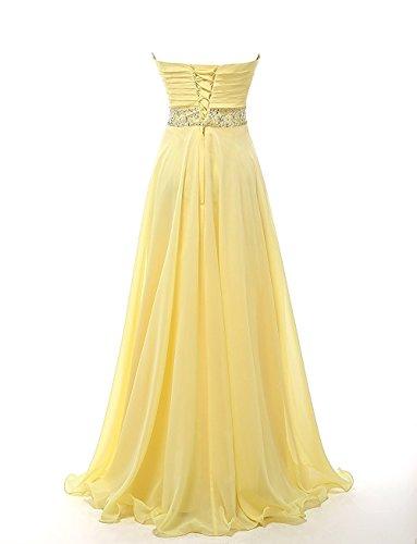 CoutureBridal® Robe Femme Bustier de Soirée Bal Cocktail Rrobe de Demoiselle d'honneur Chiffon Violet
