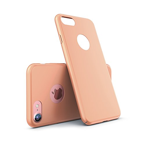 Urcover® Apple iPhone 7 Plus Ultra Slim Hardcase   Kunststoff Schwarz   Case Handy-Cover Schutz-Hülle Schale Zubehör Champagner Gold
