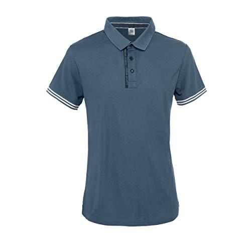 Pikeur Herren Funktions Polo Shirt Nevio, Vintage Indigo, M