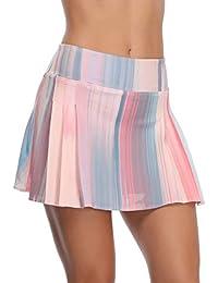 32e-SANERYI Women s Pleated Tennis Skirt Elastic Quick-Drying Skort with  Side Inner Pocket f6c96c2fde