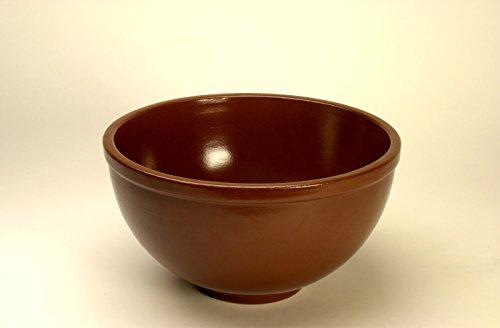 K&K Pferdetrog rund / Rundtrog 36 x 23 (DxH) vollglasiert , braun, Steinzeug (Keramik)