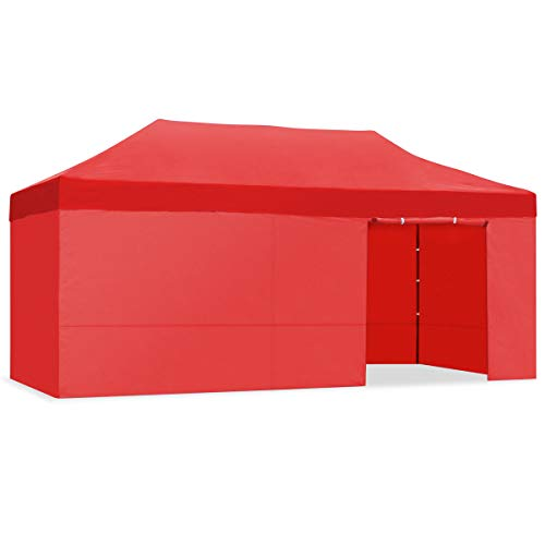 Mc Haus CARPLE-3X6 ROJA Carpa Plegable 3x6m Impermeable Eventos Plegado facil Color Rojo Gazebo