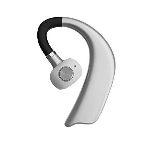 CAOQAO ÉCouteurs StéRéO sans Fil avec éCouteurs StéRéO Et avec Micro, Ecouteur Bluetooth sans Fil Oreillette Bluetooth Sport ÉTanche, ÉCouteur StéRéO RéDuction du Bruit Casque Bluetooth (Argent)