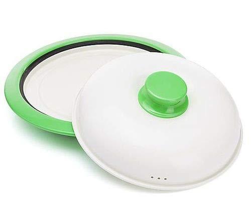 Mikrowelle Bräter Grillpfanne für die Mikrowelle Fleisch braten Pizzablech Mikrowellen-Geschirr Topf mit Deckel Kochgeschirr