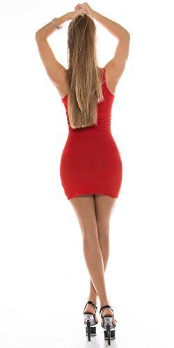 In-Stylefashion - Robe - Femme Orange Orange Rouge - Rouge