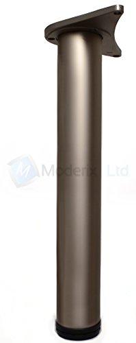 Tischbein, für Küchenarbeitsplatte, Tisch, anpassbar, 710, 820, 1100 820 mm Satin Rohr-tischbeine