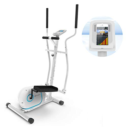 Klarfit Myon Cross Crosstrainer 12kg Schwungmasse SilentBelt System weiß