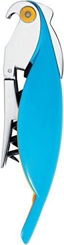 Alessi Parrot AAM32 AZ Sommelier-Korkenzieher, Edelstahl, blau, 30 x 8 x 12 cm, Einheiten, 1.0 -