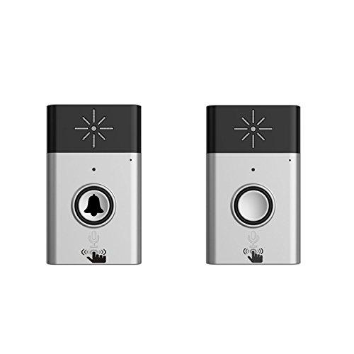 BESTOMZ 2.4G Intercomunicador de Voz Inalámbrico Carillón Sin Hilos de Puerta de 2 Vías Interfono (Plata)
