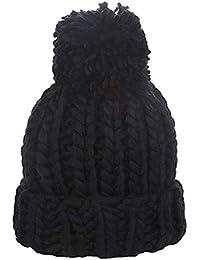 5fa2b3a2c53 LeahWard Women s Warn Winter Hat With Fuax Fur Pom Pom Ladies Beanie Wool  Knitted 0202