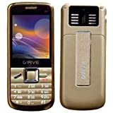 G'five W1 Plus Four SIM Basic Feature Mobile Phone-Gold