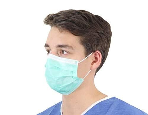 Einweg-Gesichtsmasken mit Ohrschlaufe, Blau, 50 Stück