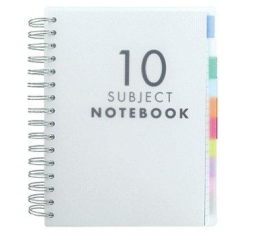 Paperchase - quaderni formato a5 con divisori per materie - confezione da 10