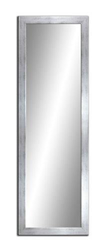 Spiegel MIT Rahmen 32 GRÖßEN 160/50, 50/160cm, 11 Farben Rahmen, Handgefertigte, breiter Fester Rahmen, Stabiler Rückwand, Rahmenleiste: 60x20mm, Rahmen Farbe: Silber