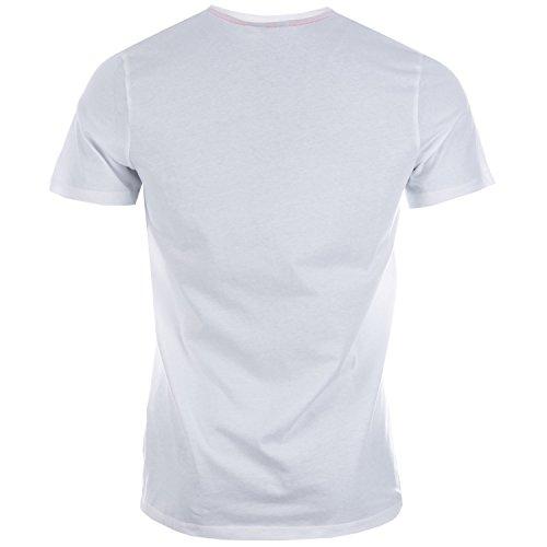 Jack & Jones Herren T-Shirt Weiß / Rot
