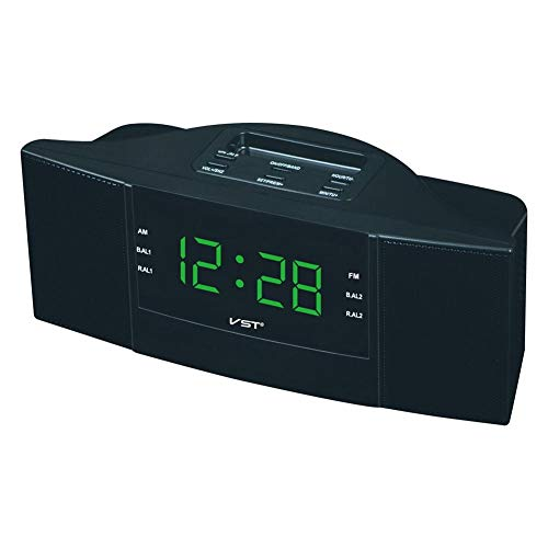 Ranget Funkuhr mit AM FM Dual-Band-Kanal-Radio LED-Uhr Digital Radio Geschenk AM/FM-Digital-Wecker Dual-band-led-radio