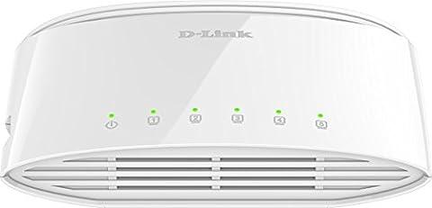 D-Link DGS-1005D/E Switch 5 ports 10/100/1000 mbps ethernet Blanc