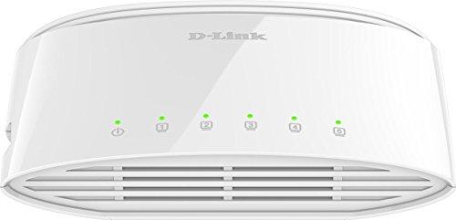 D-Link DGS-1005D 5-Port Gigabit Switch Desktop (10/100/1000 Mbit/s TP (RJ-45) Gigabit Ports, bis zu 2000 Mbit/s pro Port im Full-Duplex-Modus, lüfterlos) (2-port-ethernet-router)