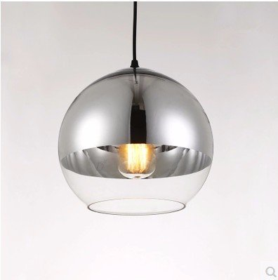 GS~LY minimalista moderno creativo della luce vetro sfera sferica di placcatura testa unico lampadario,20CM