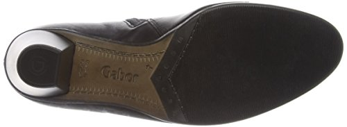 Gabor - Enfield, Stivaletti Donna Nero (Black Leather/Black Patent)