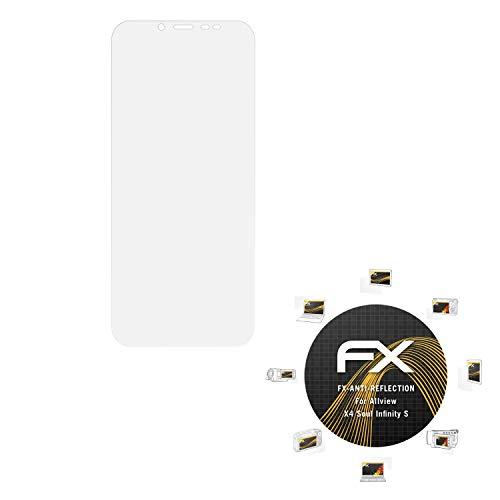 atFolix Panzerfolie kompatibel mit Allview X4 Soul Infinity S Schutzfolie, entspiegelnde & stoßdämpfende FX Folie (3X)