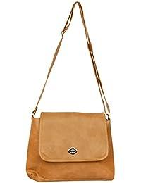 Trendz Women's/Girl's Sling Bag (Beige,102)
