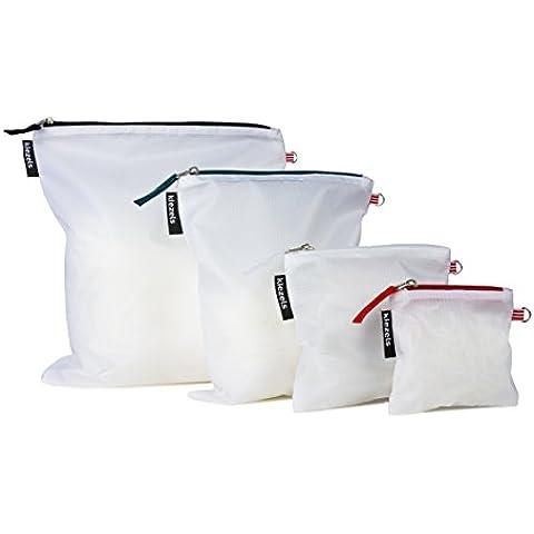 kiezels - Set de 4 bolsas con cremallera (varios tamaños)
